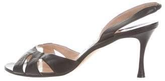 Manolo Blahnik Cutout Slingback Sandals