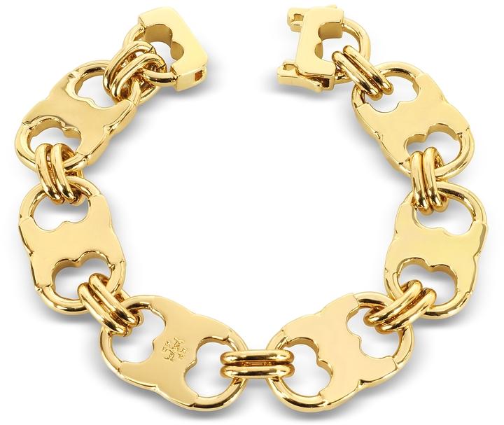 Tory BurchTory Burch Gemini Gold Tone Link Bracelet