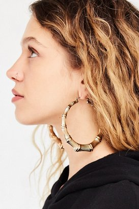 Urban Outfitters Bamboo Hoop Earring $16 thestylecure.com