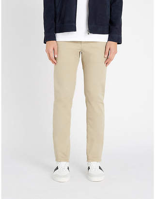 SLOWEAR Slim-fit cotton-blend chino trousers