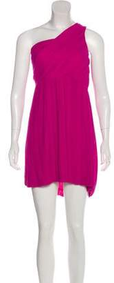 Theory One-Shoulder Mini Dress