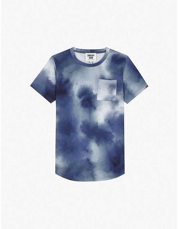 Someday Soon Ventura sky print cotton T-shirt 4-14 years