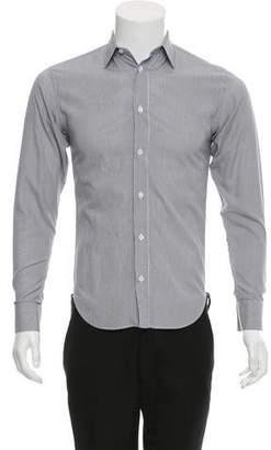 Christian Dior Striped Button-Up Shirt