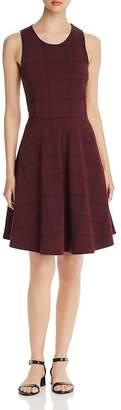 Leota Ava Plaid Knit Fit-and-Flare Dress