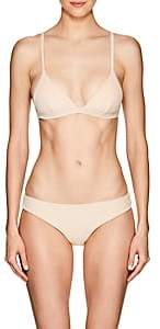 Onia Women's Danni French Terry Triangle Bikini Top - Peach