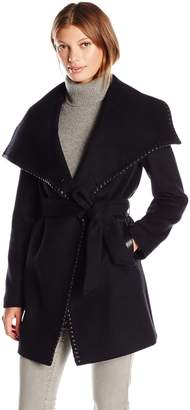 Elie Tahari Women's Natasha Wool Wrap Coat
