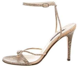 Ralph Lauren Purple Label Karung Ankle Strap Sandals