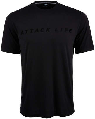Greg Norman Attack Life by Men's Flocked Shark Graphic T-Shirt