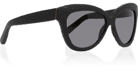 Linda Farrow Cat eye watersnake sunglasses