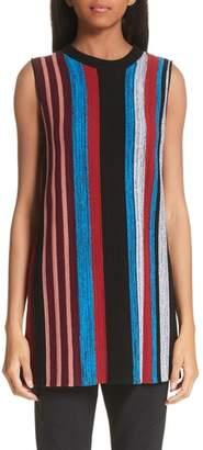 Proenza Schouler Stripe Wool & Silk Blend Ottoman Sweater Tunic