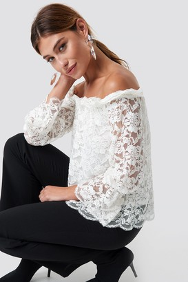 Off-White Sparkz Nor Lace Blouse Offwhite