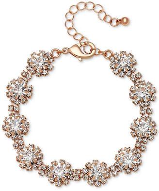Badgley Mischka Crystal Cluster Link Bracelet