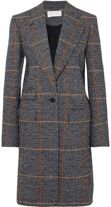 Chloé Checked Houndstooth Woven Coat - Black