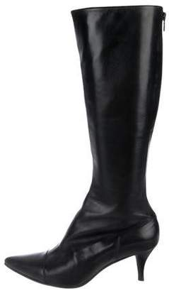 Clergerie Leather Knee-High Boots
