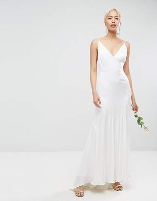 Asos Edition EDITION Cami Wedding Maxi Dress With Seam Details