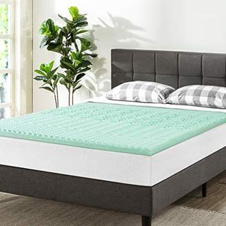 Best Price Mattress Twin Mattress Topper - 1.5 Inch 5-Zone Memory Foam Bed Topper Infused Cooling Mattress Pad