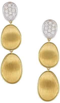 Marco Bicego Diamond Lunaria Three Drop Small Earrings in 18K Gold