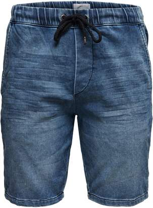 ONLY & SONS Drawstring Denim Sweat Shorts