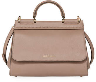 Dolce & Gabbana Sicily Soft Leather Top-Handle Bag