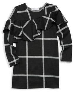 Joah Love Little Girl's& Girl's Plaid Ruffle Dress