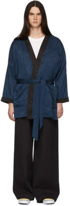 Goodfight Navy Fumado Robe Coat