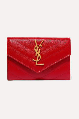 Saint Laurent Quilted Textured-leather Wallet - one size