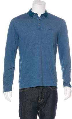 Michael Kors Long Sleeve Polo Shirt