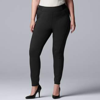 4b2685e50e1 Vera Wang Plus Size Simply Vera Everyday Luxury Scuba High-Waisted Skinny  Pants