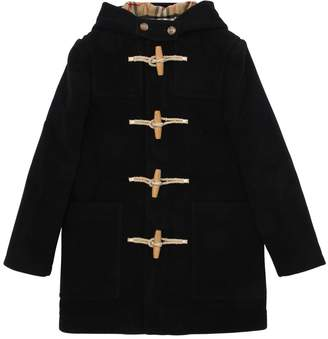 Burberry Hooded Virgin Wool Coat
