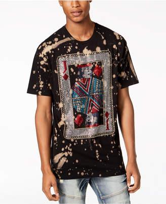 Reason Men's Rhinestone Card Splatter Graphic T-Shirt