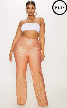 PrettyLittleThing Plus Silver Sequin Flares