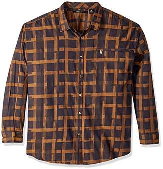Sean John Men's Long Sleeve Graphic Check Shirt