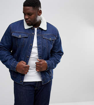 Bellfield Plus Fleece Lined Denim Jacket
