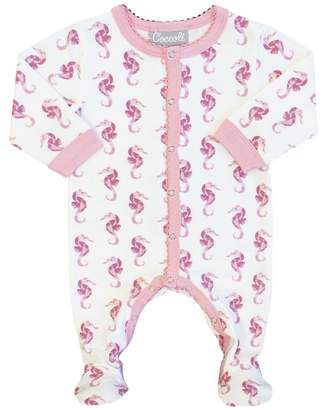 Coccoli Sea Animal Print Footie (Baby)