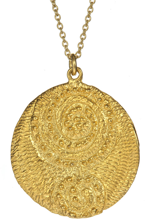 Lisa Stewart Gold Swirl Pendant Necklace