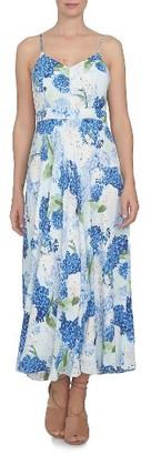 Women's Cece Hydrangea Print A-Line Maxi Dress $139 thestylecure.com