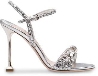 Miu Miu glittered sandals