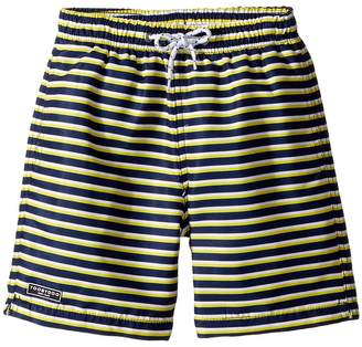 Toobydoo Navy Yellow Stripe Swim Shorts Boy's Swimwear