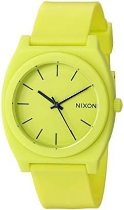 Nixon Men's A1191262-00 Time Teller P Analog Display Japanese Quartz Yellow Watch