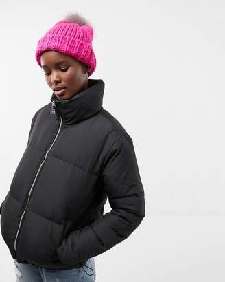 Express Zip Front Short Puffer Coat