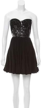 Rebecca Taylor Sequin Strapless Dress w/ Tags