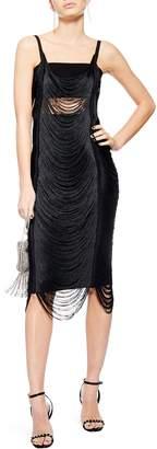 Topshop Fringe Body-Con Dress