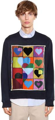J.W.Anderson Hearts Patch Cotton Jersey Sweatshirt