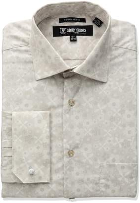 Stacy Adams Men's Big and Tall Floral Dress Shirt