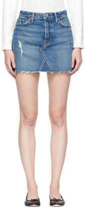 GRLFRND Blue Denim Eva Miniskirt