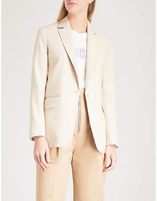 Sandro Pinstriped woven jacket