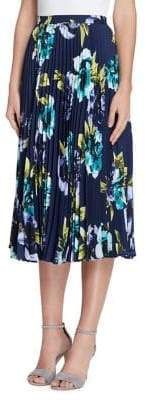 Tahari Arthur S. Levine Floral Midi Accordion Skirt