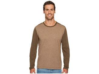 Agave Denim Shoaling Long Sleeve Color Block Neps T-Shirt Men's Long Sleeve Pullover