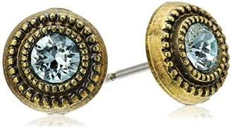 Sorrelli Rustic Bloom Macrame Post Stud Earrings