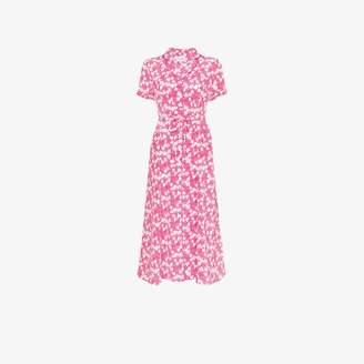 HVN Maria long strawberry dress